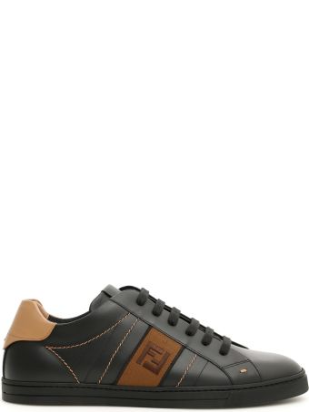 Fendi Leather Ff Logo Sneakers