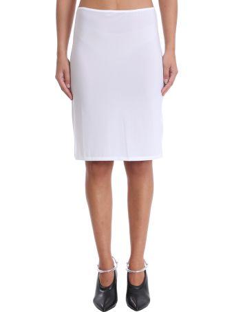 Jil Sander White Lycra Skirt