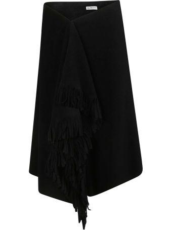 Balenciaga Fringe Detail Skirt