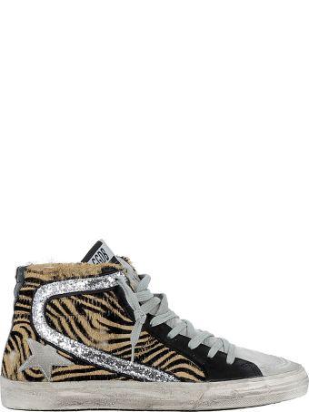 Golden Goose Leopard Brown/black Leather Sneakers
