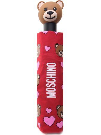 Moschino Teddy Hearth Nylon Umbrella