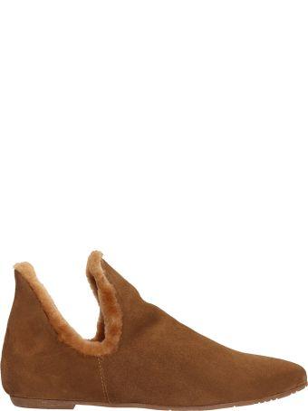 Julie Dee Brown Suede Loafers