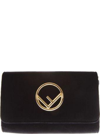 Fendi Black Fendi Wallet In Velvet
