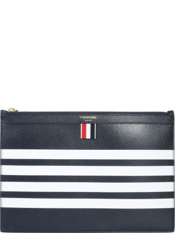Thom Browne Small 4-bar Pouch For Tablet