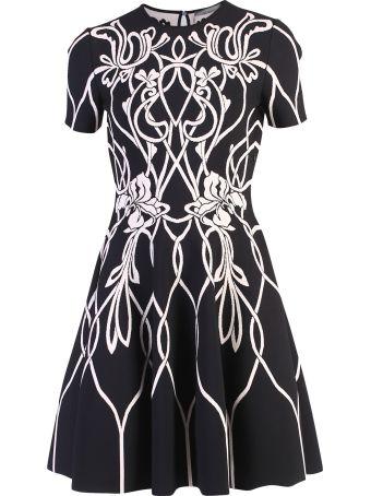 Alexander McQueen Black Floral Motif Dress