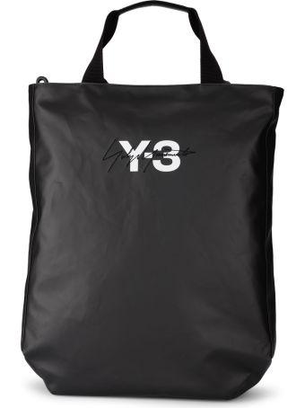 Y-3 Model Logo Black Wax Canvas Bag