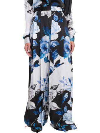 Off-White Pantaloni Stampa 'floral Abloh' Allover