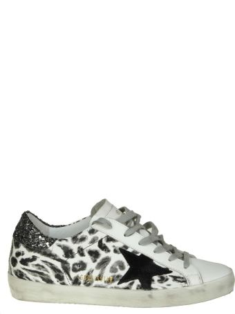 """Golden Goose """"superstar"""" Sneakers In White Leather With Leoparded Prin"""