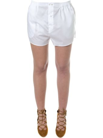 Faith Connexion White Cotton Shorts