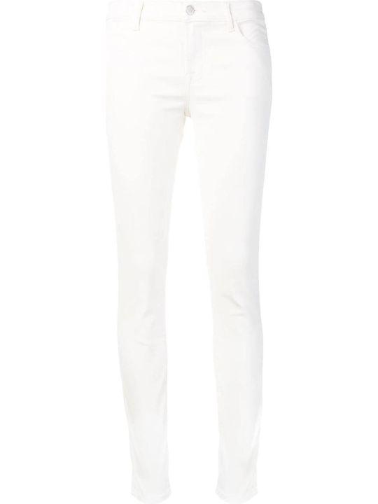J Brand Super Skinny Coated Mid-rise Jeans