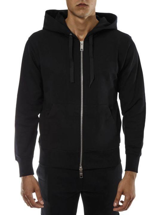 Versus Versace Black Cotton Hoodie Sweatshirt
