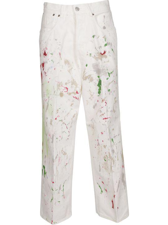 Golden Goose Paint Print Straight-leg Jeans