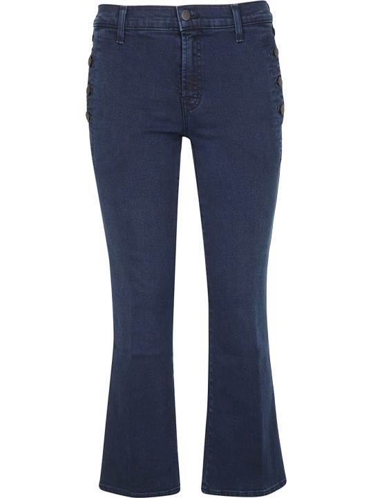 J Brand Side Button Cropped Jeans
