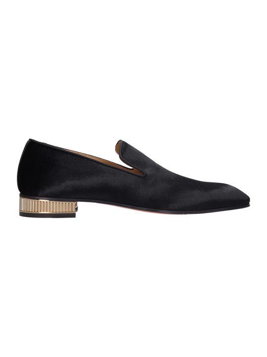 Christian Louboutin Black Velvet Loafers Colonnaki