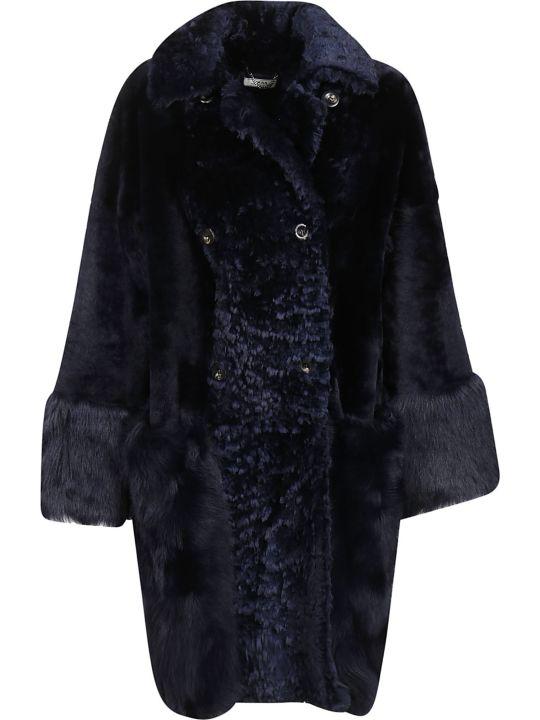Desa 1972 Desa Double Breasted Faux Fur Coat