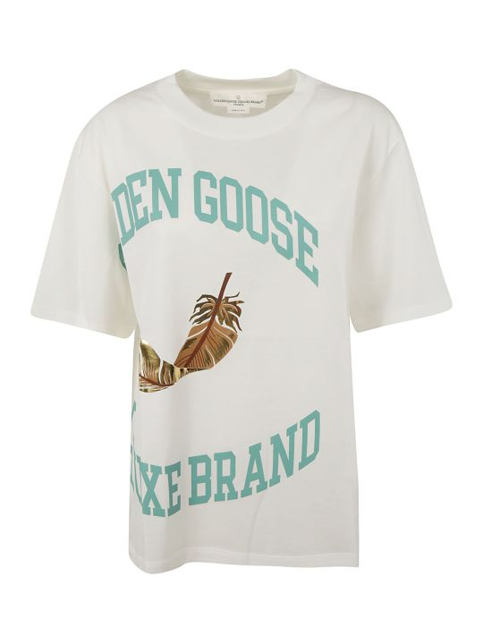 Golden Goose Logo Print Feather T-shirt