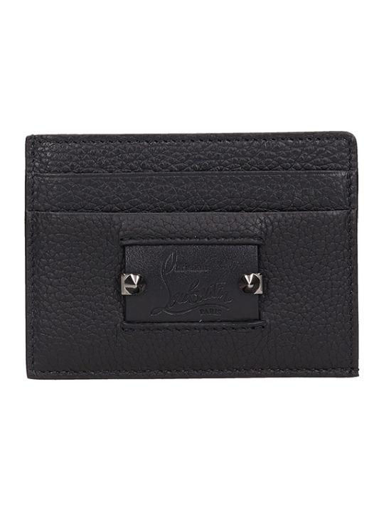 Christian Louboutin Blakc Leather Kios Nv Card Holder