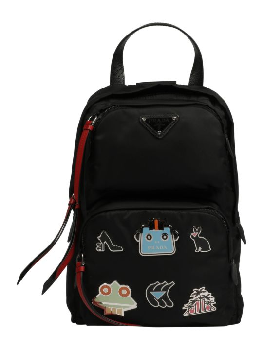 Prada Small Appliqued Shell Backpack