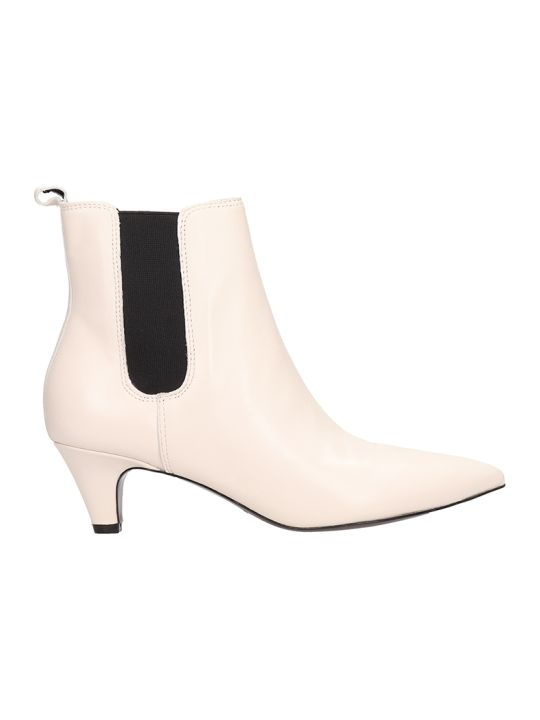 Kendall + Kylie White Leather Ankle Boots