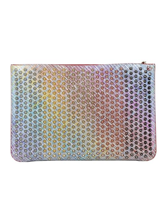 Christian Louboutin Multicolor Leather Clutch