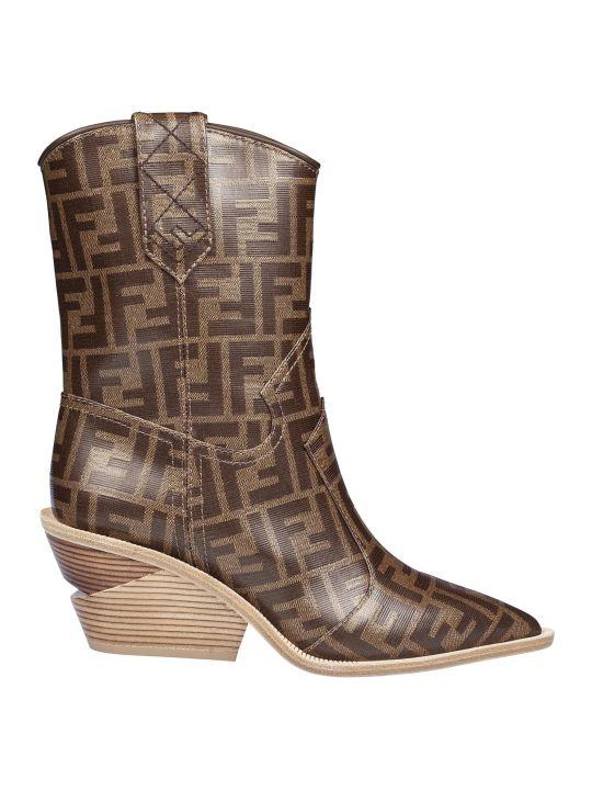 Fendi Pointed Toe Cowboy Boots