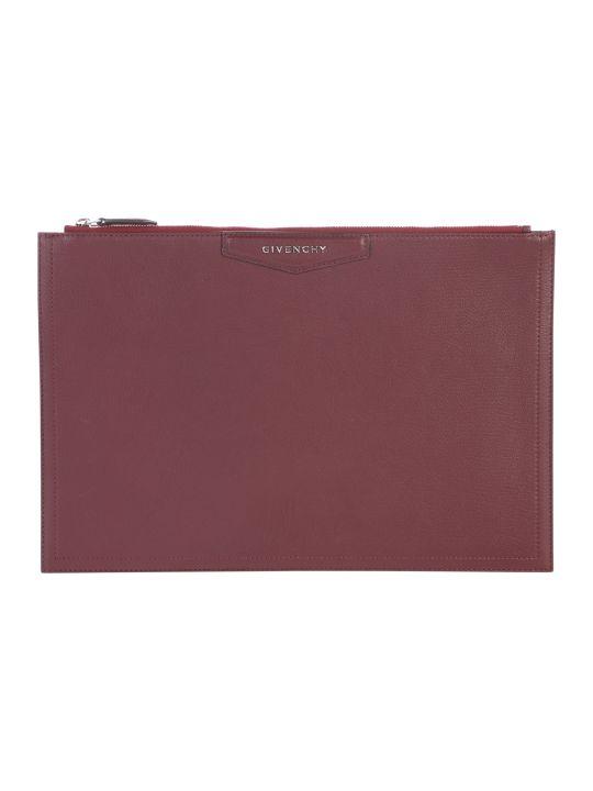 Givenchy Large Antigona Leather Clutch