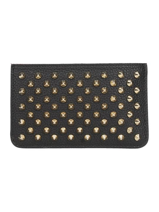 Christian Louboutin Panettone Keyring Cardholder With Golden Studs