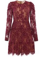 MICHAEL Michael Kors Lace Dress - MERLOT Viola