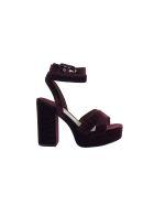 Ash Velvet Boom Platform Sandals