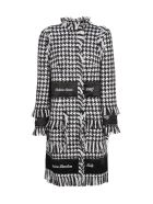 DOLCE & GABBANA HOUNDSTOOTH EMBROIDERED COAT