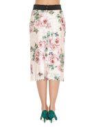 Dolce & Gabbana Roses Print Fringes Skirt