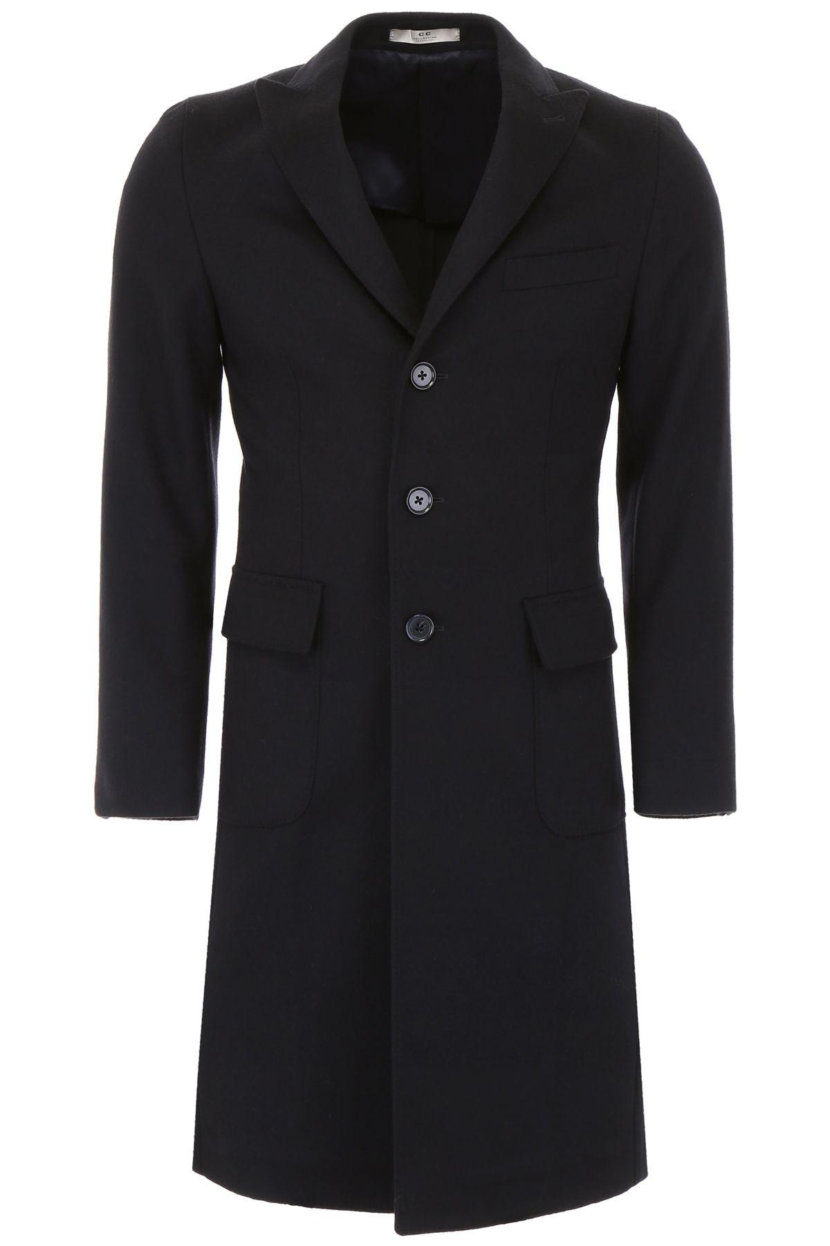 CC COLLECTION CORNELIANI Wool Coat in Navy