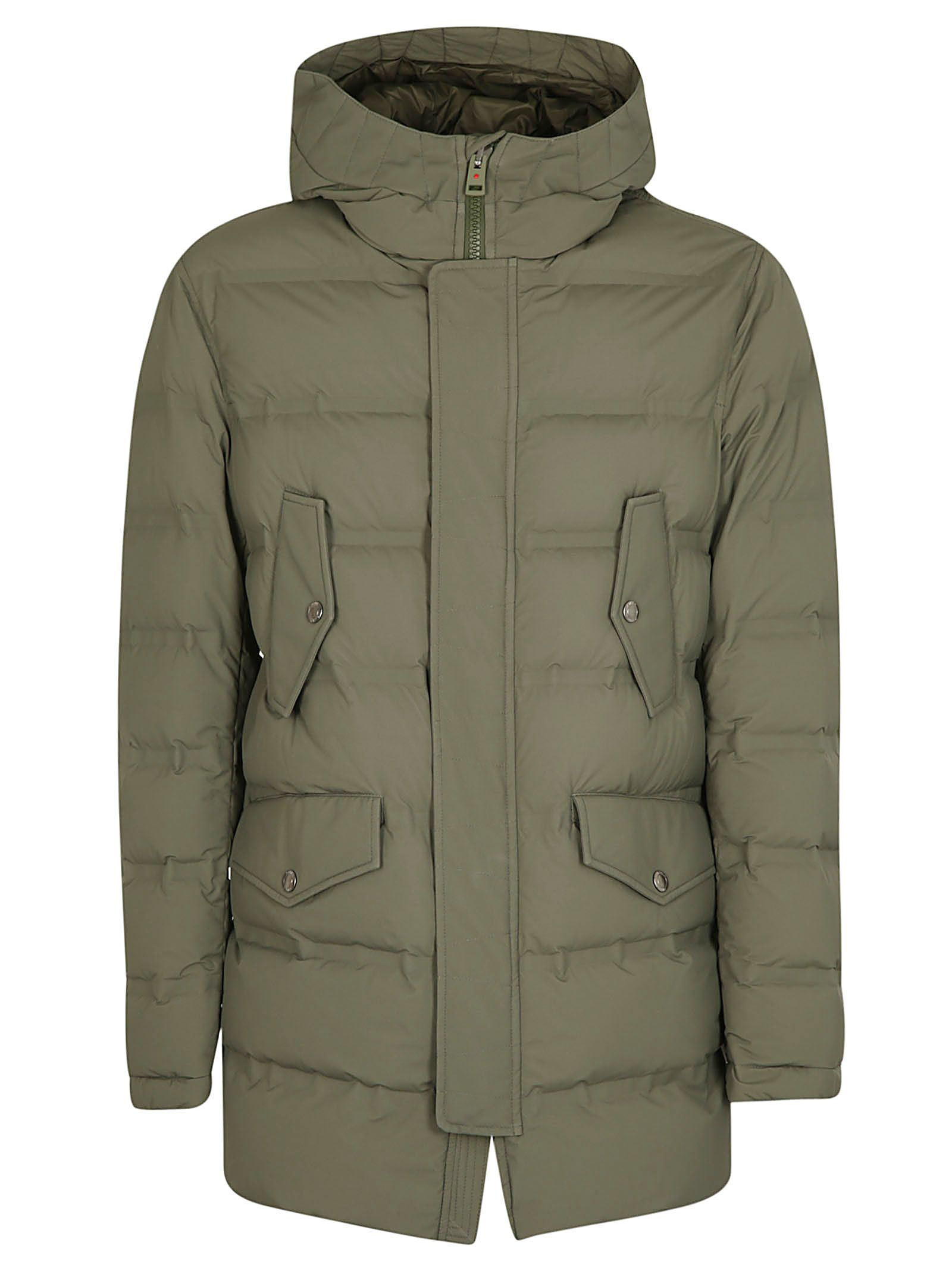 KIRED Buttoned Pocket Padded Jacket in Militare