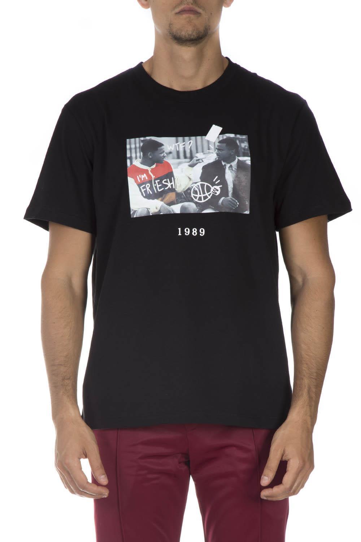 THROWBACK. Black Cotton T-Shirt