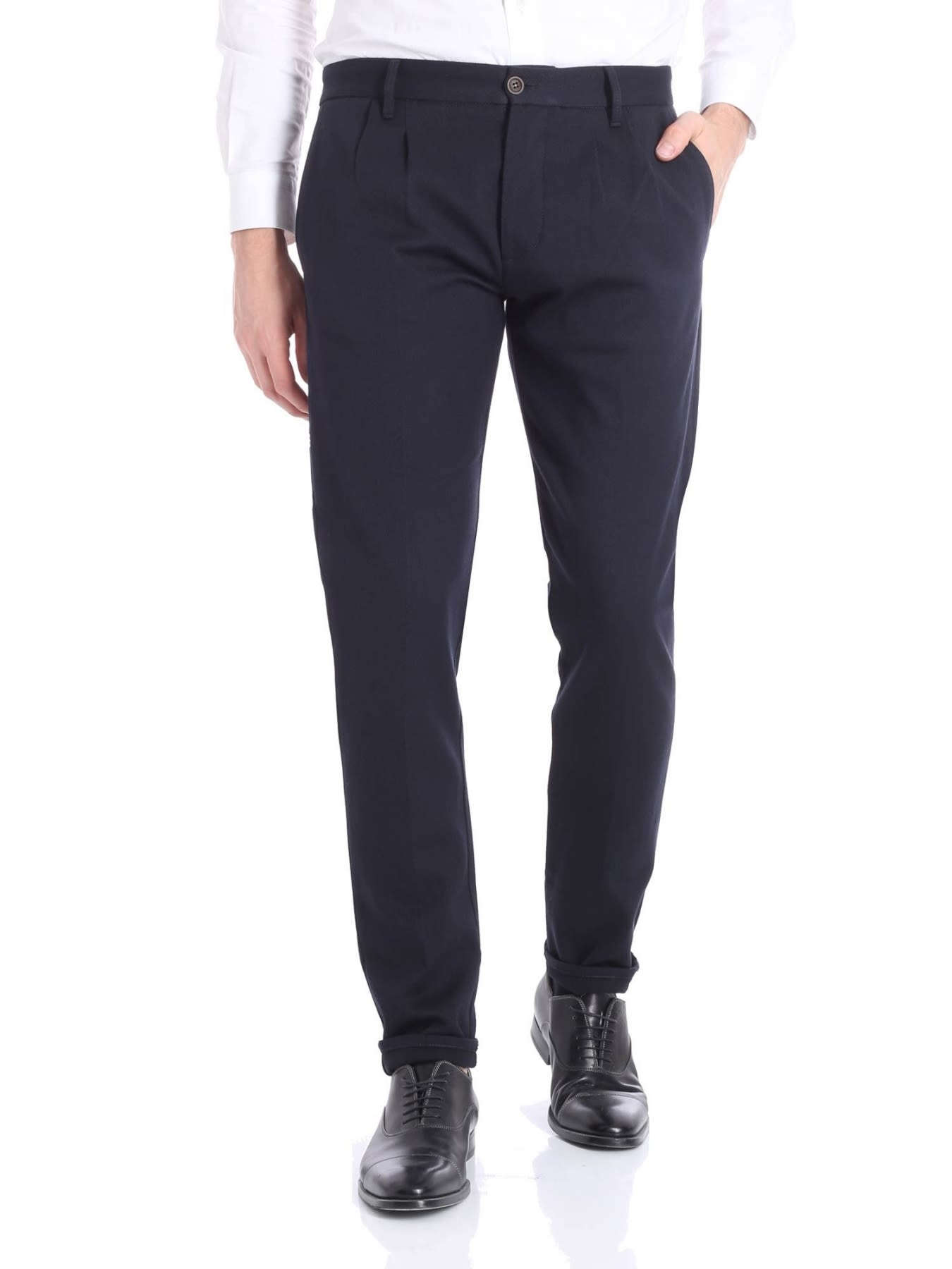 FORTELA TROUSERS VIRGIN WOOL AND COTTON