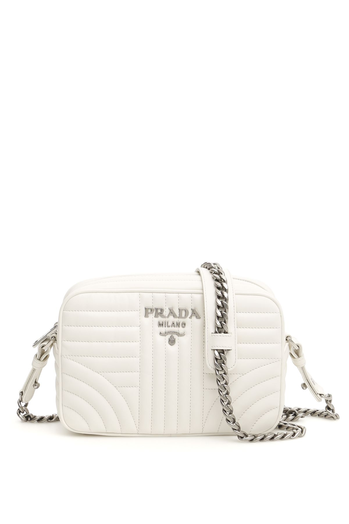 956195edb9 Prada Diagramme Crossbody Bag In Bianco 2