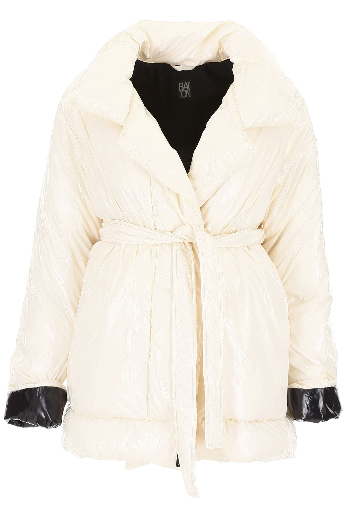 BACON CLOTHING Belted Puffer Jacket in Deep Beige