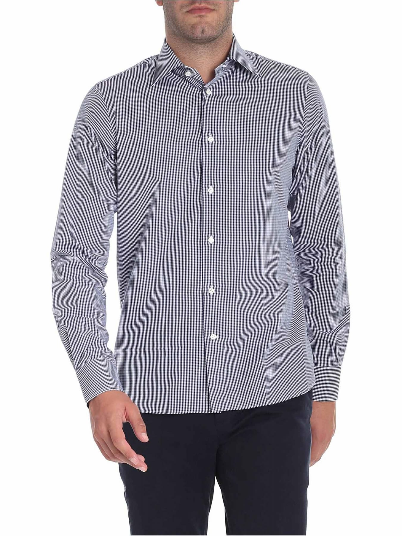 G. INGLESE Cotton Shirt in Blue