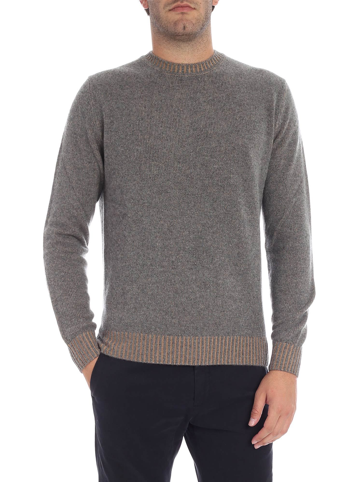 LUIGI BORRELLI Crew Neck Jumper in Grey