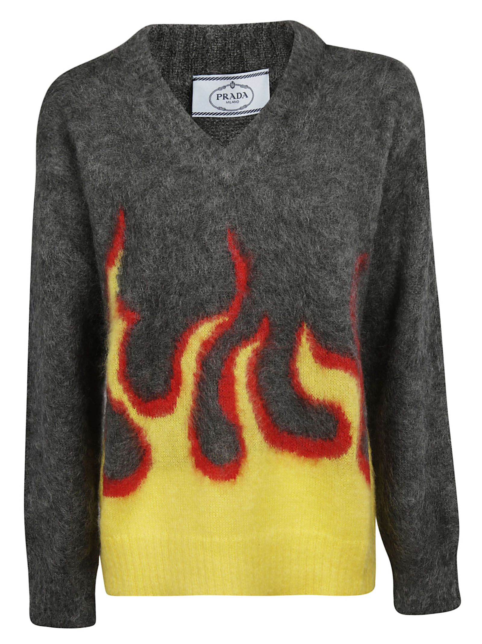 Prada Flames Embroidered Sweater