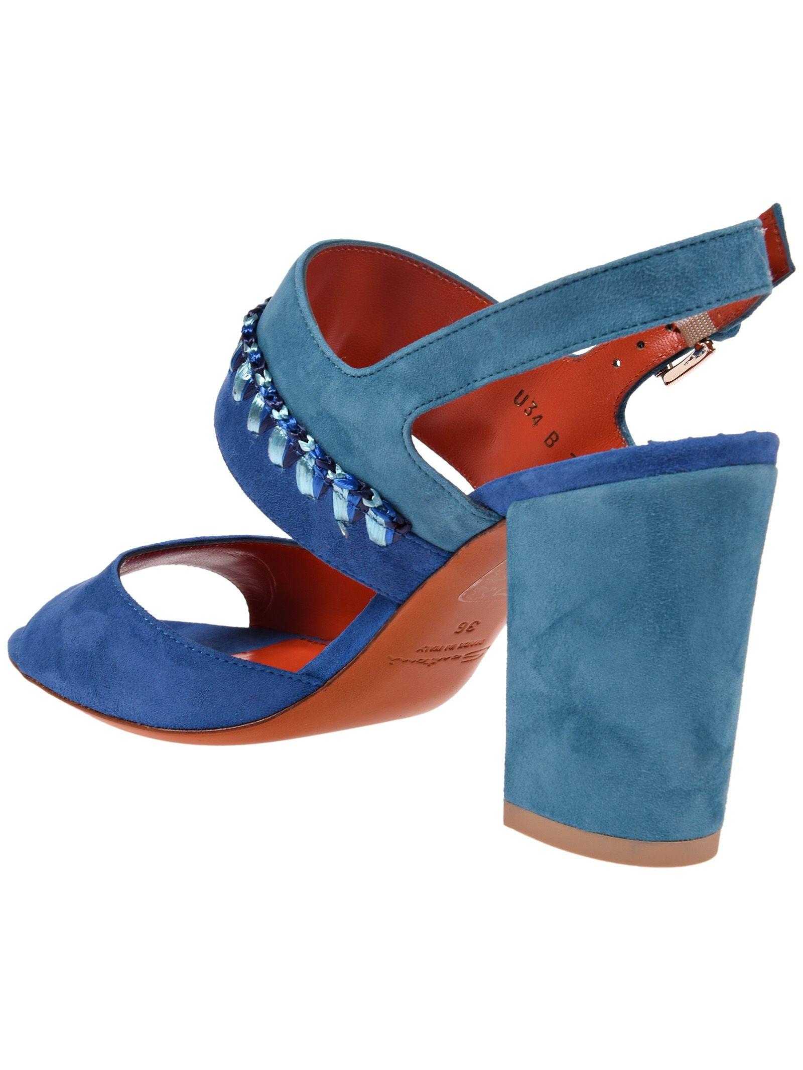 two tone sandals - Blue Santoni 41khZTuKc