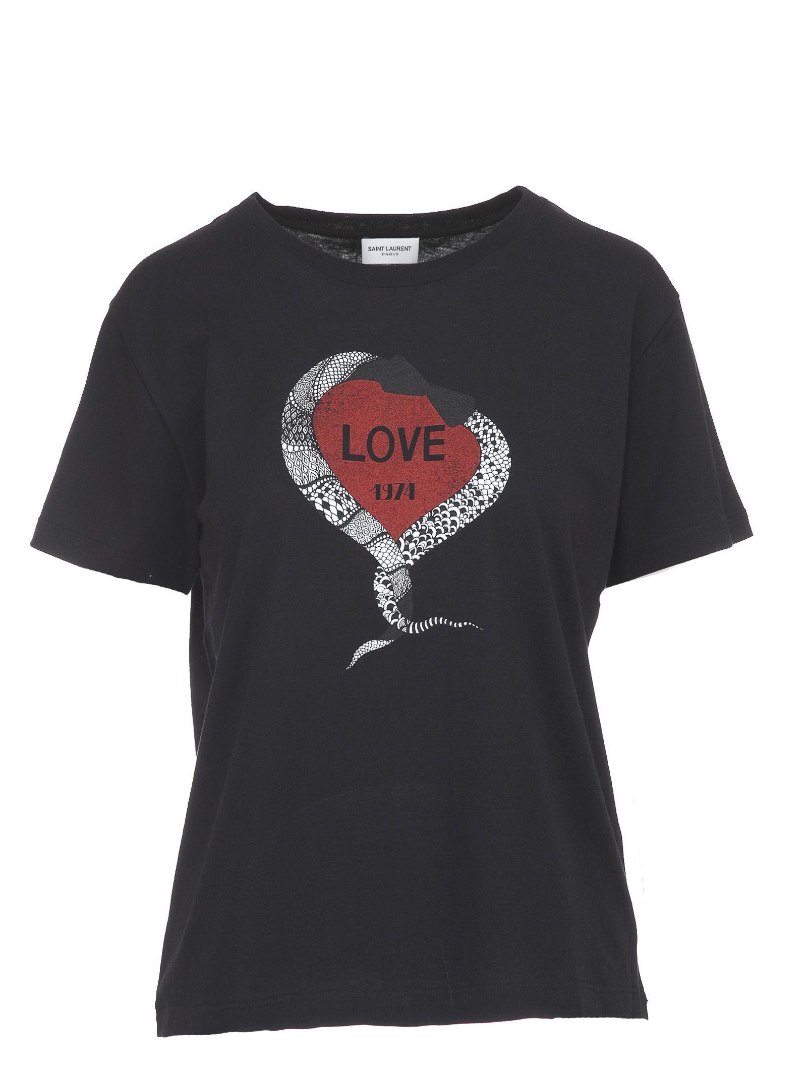 Love 1974 T-shirt - Black Saint Laurent Buy Cheap Really EPettoz