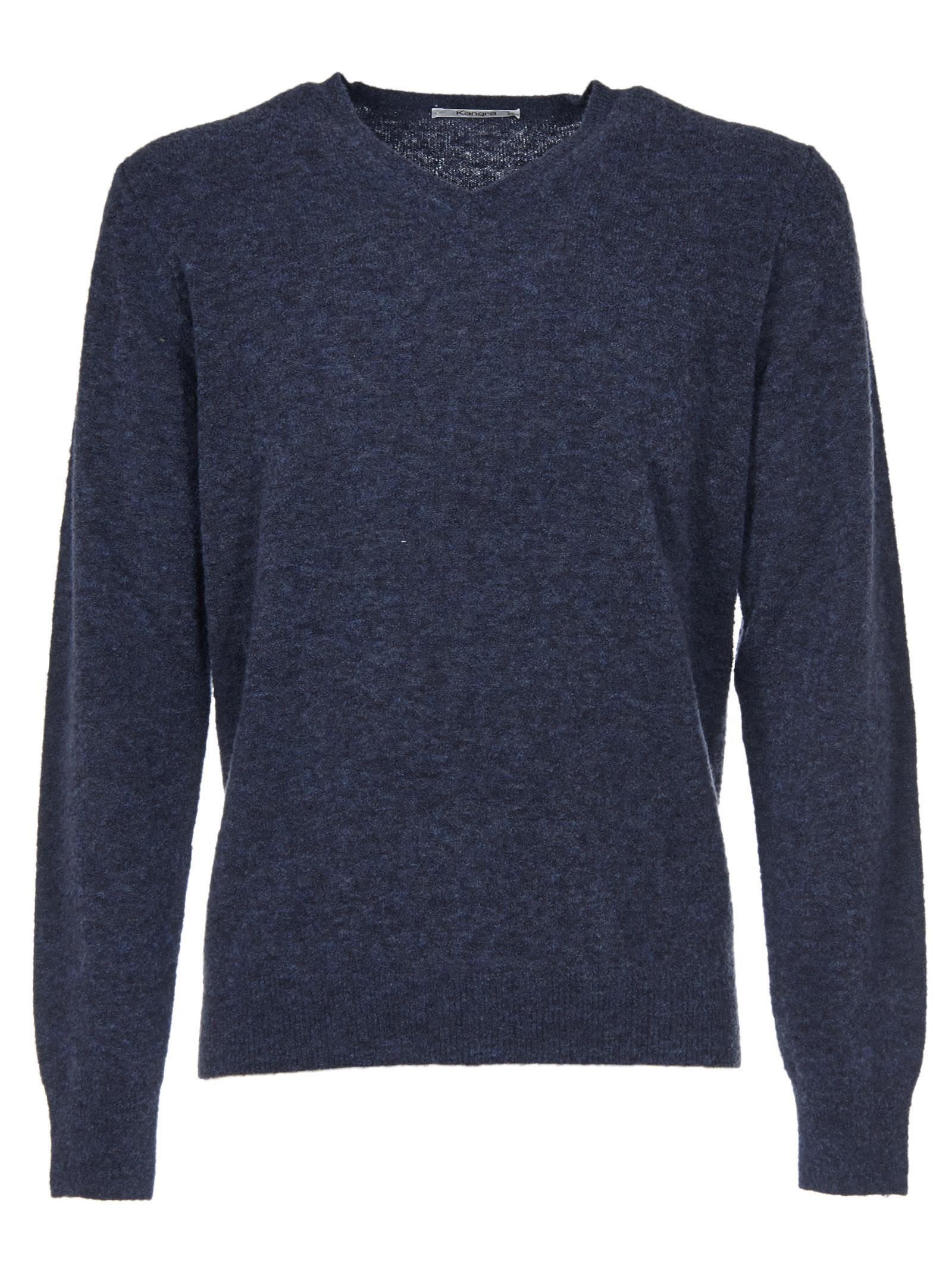 KANGRA V-Neck Sweater in Jeans