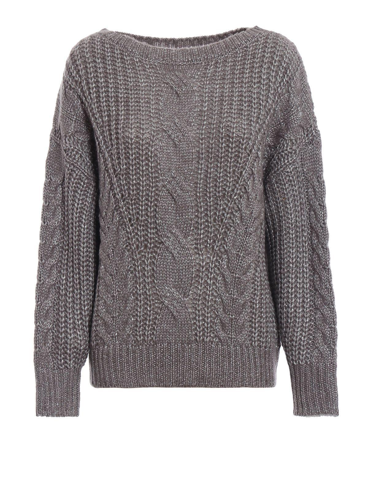 Lurex Round Neck Sweater