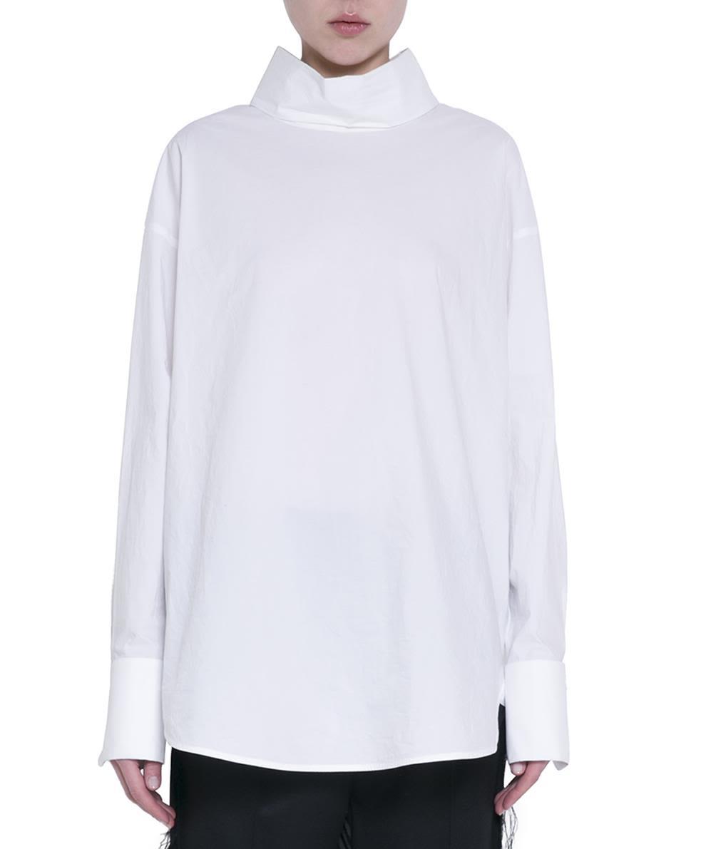 MM6 Maison Margiela White Cotton Blouse