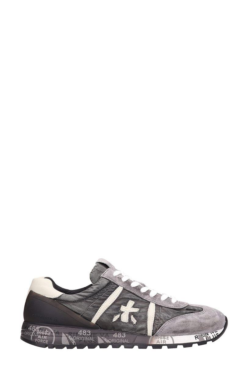 Premiata Grey Fabric Sneakers