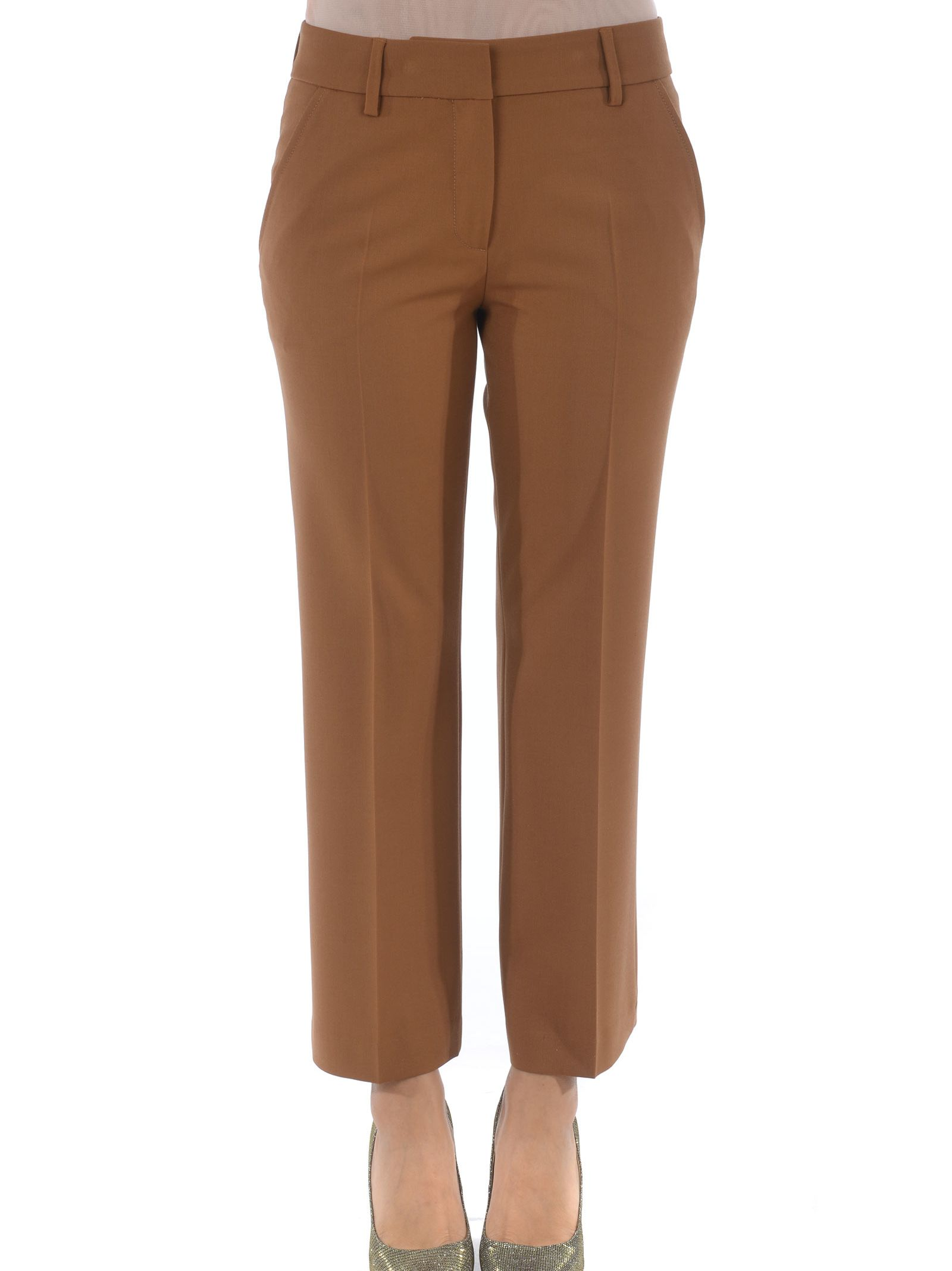 TRUE ROYAL Cropped Trousers in Cammello