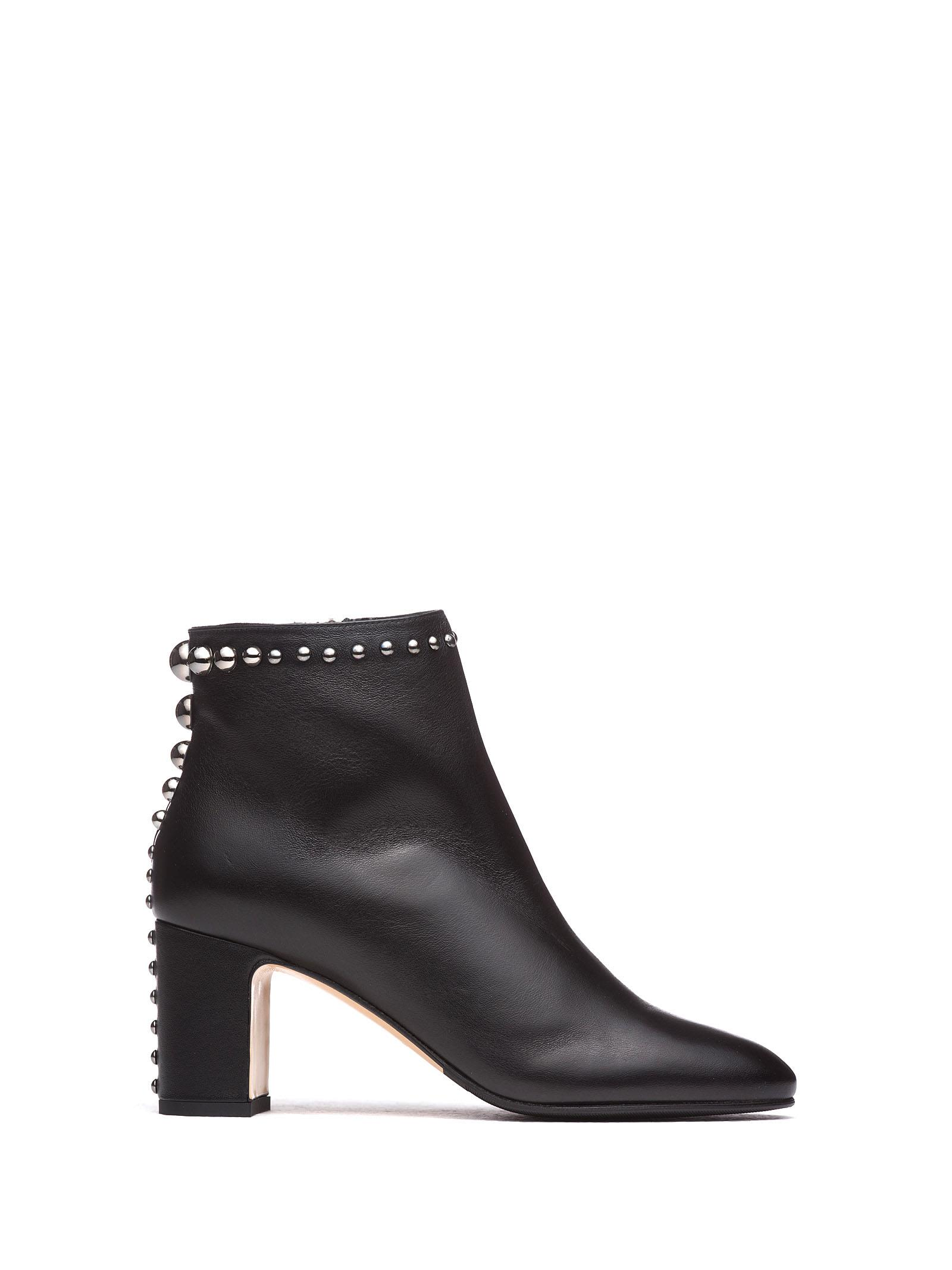 NINALILOU Ankle Boots With Studs in Nero