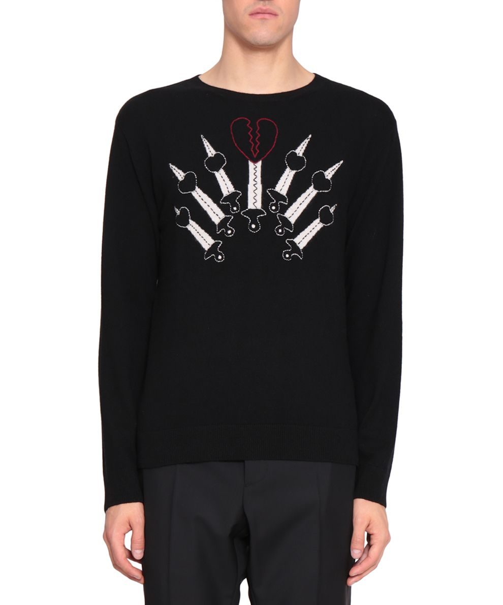 Valentino Love Blades Cashmere Sweater 8964835