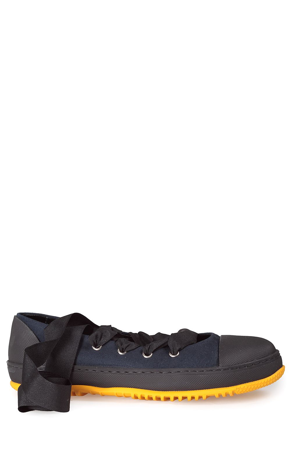 Lace-up canvas ballet-sneakers Marni bCffSrG